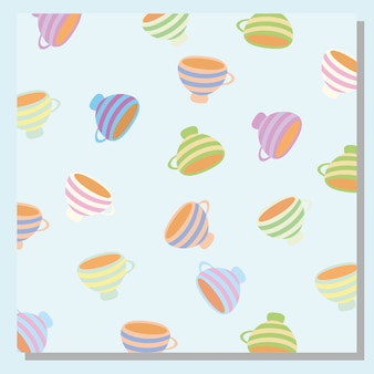 Cup pattern background Free Vector