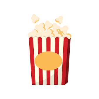 A cup of popcorn graphic illustration