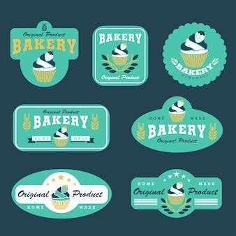 カップケーキとベーカリーのロゴ