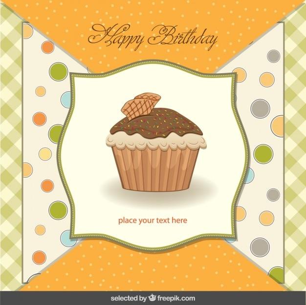Cupcake birthday card in scrapbook style