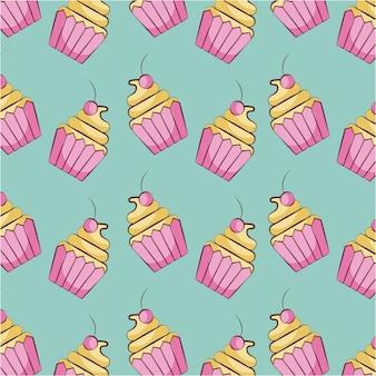 Кекс десерт сладкий бесшовные модели