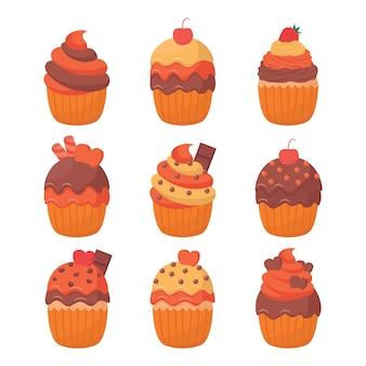 Cupcake illustration vector