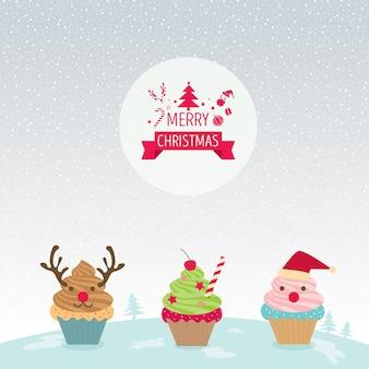 컵케익 메리 크리스마스