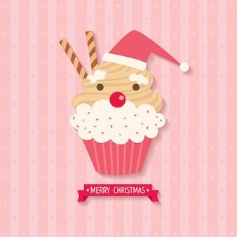 컵 케이크 산타 클로스 크리스마스