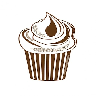 Cupcake in vintage style