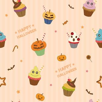 カップケーキとキャンディーデザイン