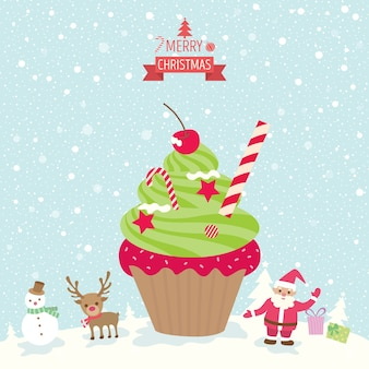컵 케이크 크리스마스 트리