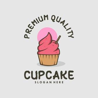 カップケーキデザインプレミアムロゴデザイン