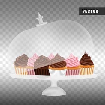 ケーキスタンドのカップケーキ