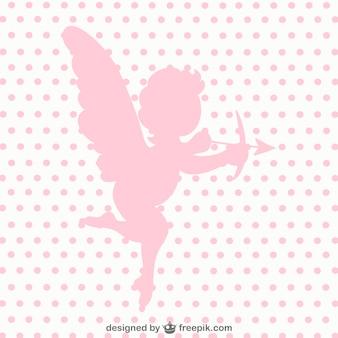Амур ангел вектор силуэт