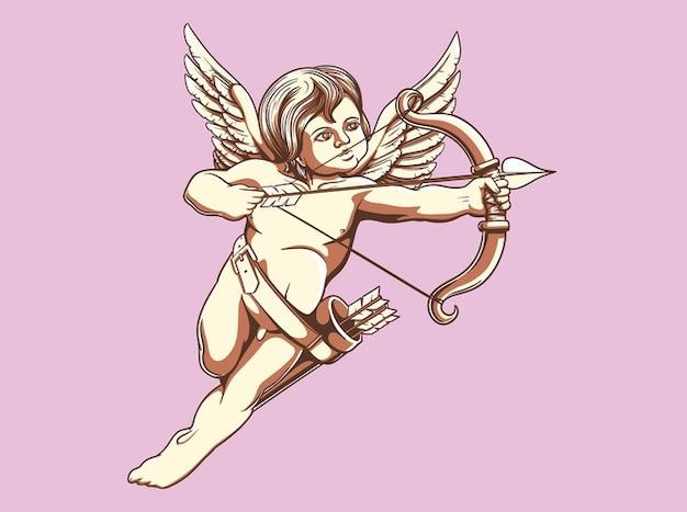 Cupid illustration vector