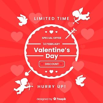 Cupid silhouette valentine sale background