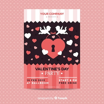 Cupid valentine's day party poster