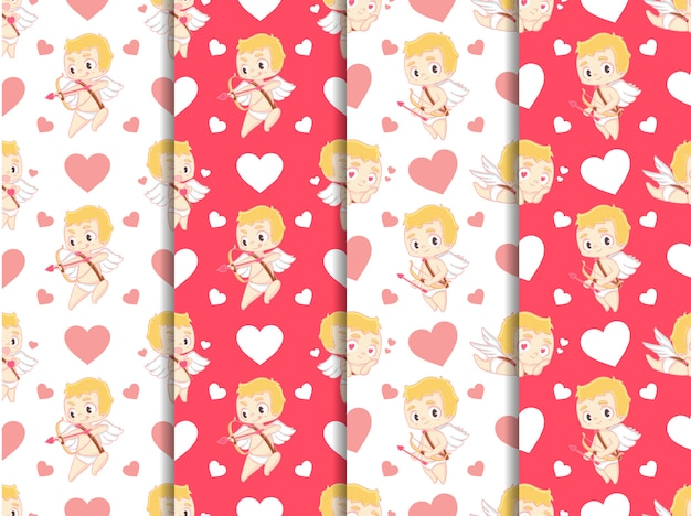 Cupid valentine's day pattern collection