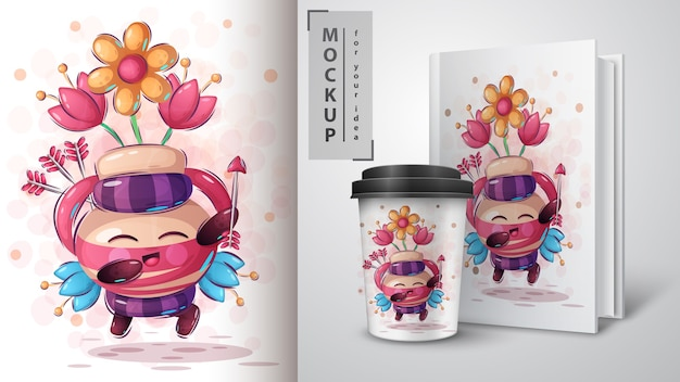 Cupid with arrows poster and merchandising