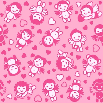 Cupids background, wrapping paper