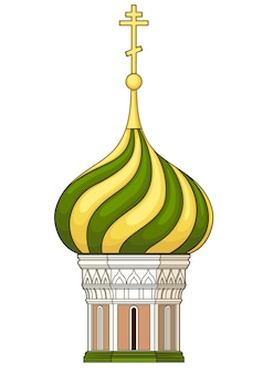 Cupola of church . vector without gradient