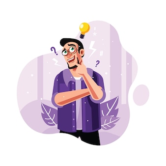 A curious man and find idea