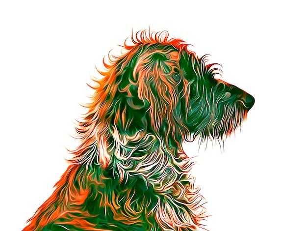 Вьющиеся волосы собака иллюстрации вектор eps 10