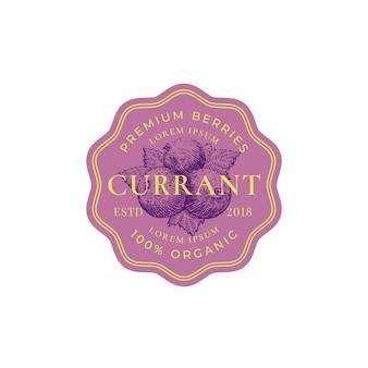 Currant abstract  sign, badge or logo template.