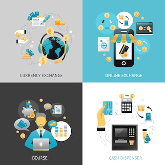 Currency exchange design concept