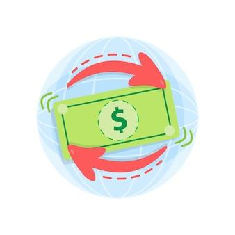 환전소. 빠른 환전을위한 온라인 경제 애플리케이션. 환율.