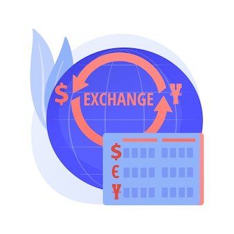 Currency exchange service. monetary transfer, changing dollar to euro, buying and selling foreign money. golden coins with eu and us currency symbols.
