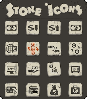 Currency exchange vector icons for web and user interface design