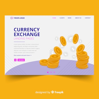Currency landing page