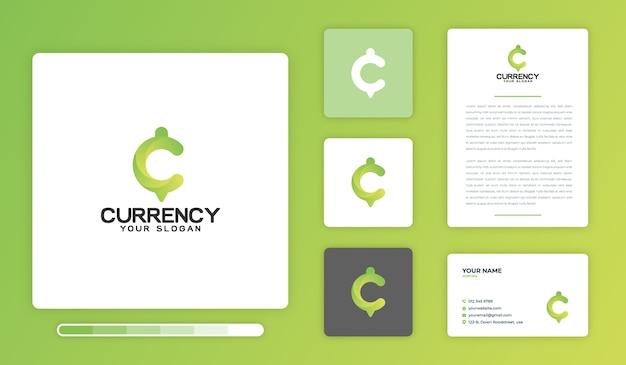 Шаблон дизайна логотипа валюты