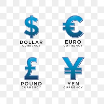 Currency sign graphic template