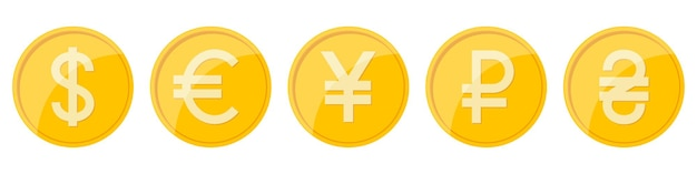 Currency signs of different countries