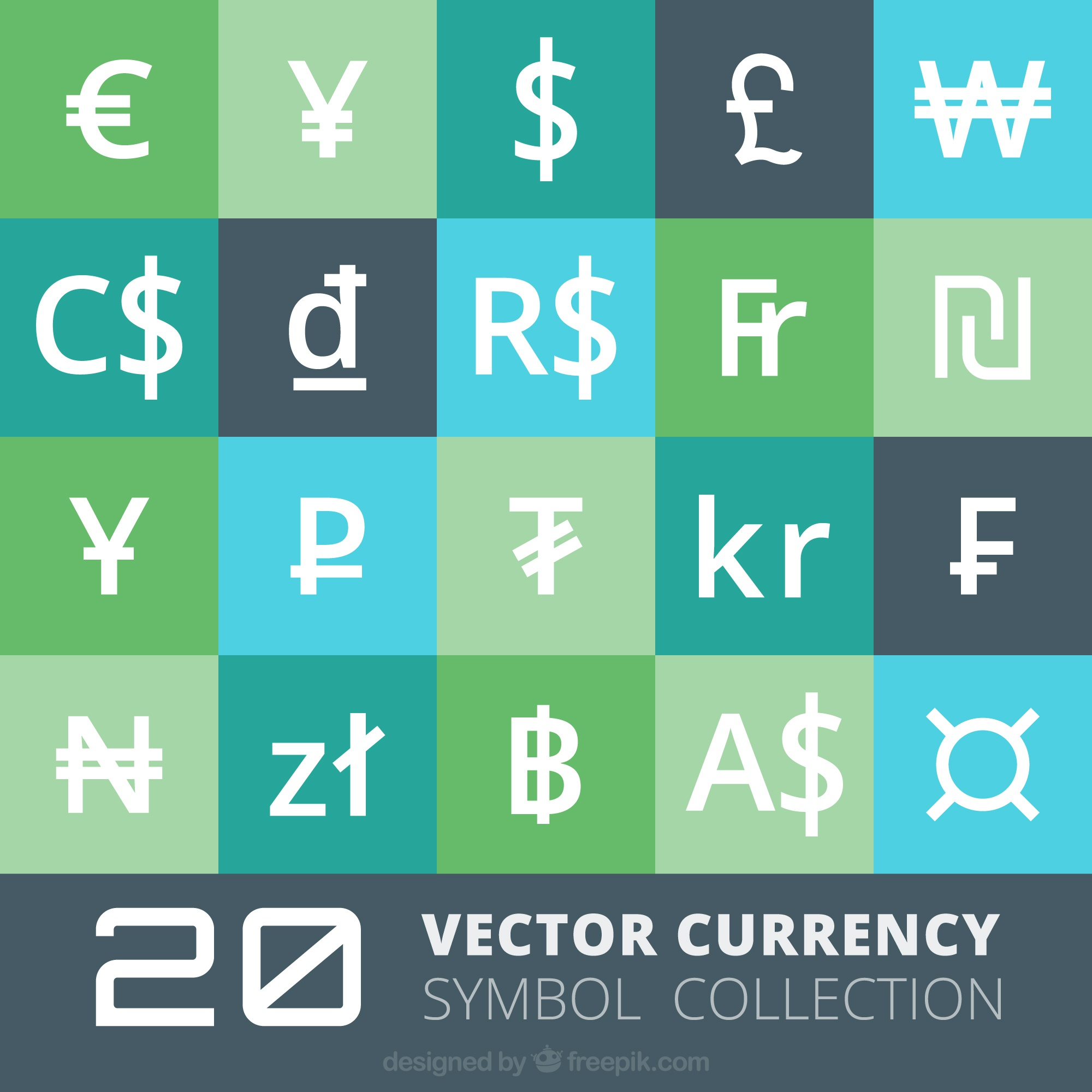 Currency symbols collection