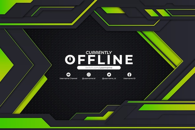 Currently offline background green style