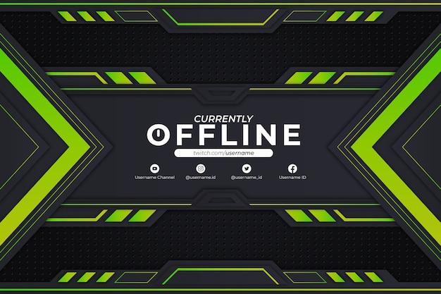 現在オフラインの背景緑のスタイル