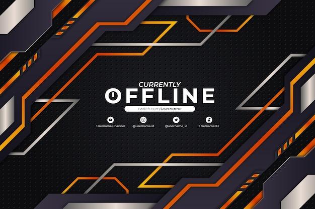 現在オフラインの背景オレンジスタイル