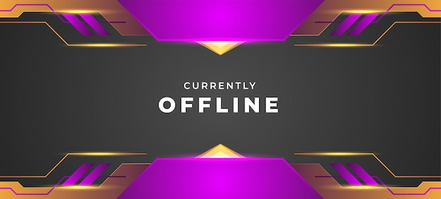 Currently offline background purple and orange style