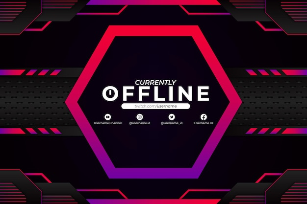 Currently offline background purple pink style