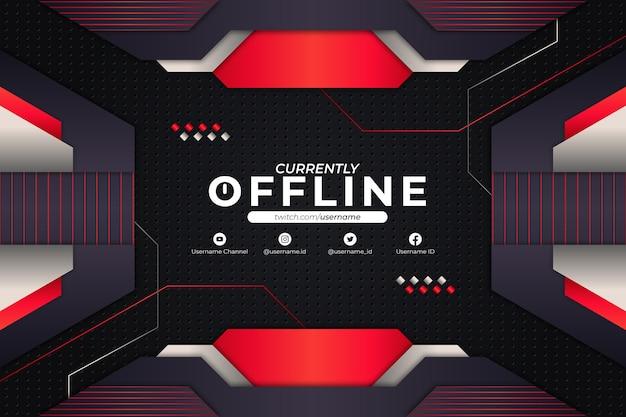 現在オフラインの背景赤スタイル