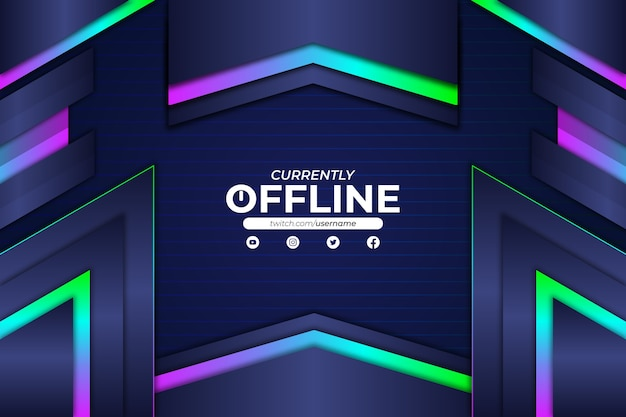 Currently offline background rgb style