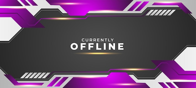 Currently offline background with purple and white style