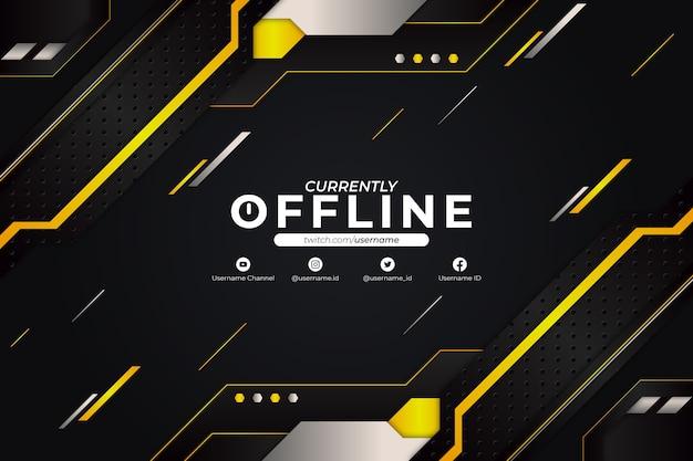 現在オフラインの背景黄色のスタイル