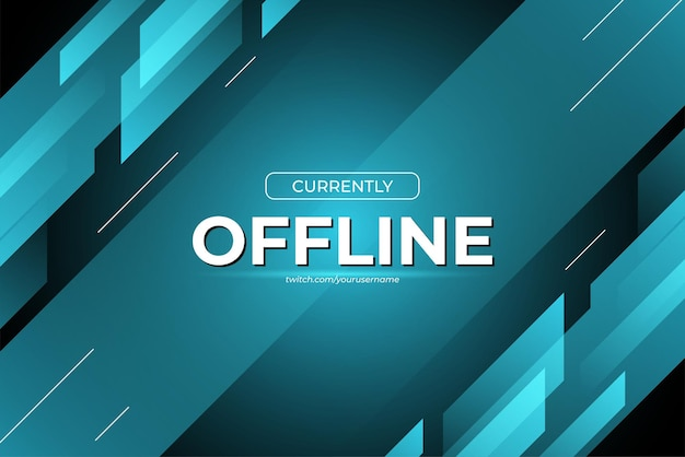 Currently offline banner background for game streaming