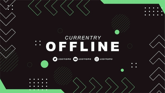 Currently offline twitch banner with abstract