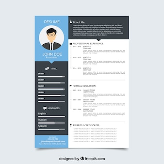 Curriculum template with flat design