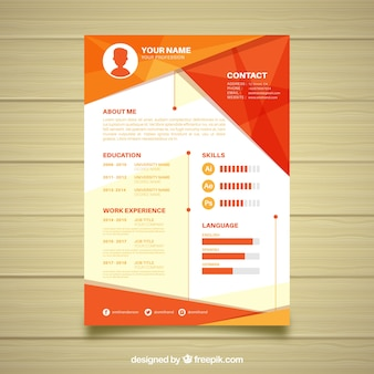 Curriculum template with geometric shapes