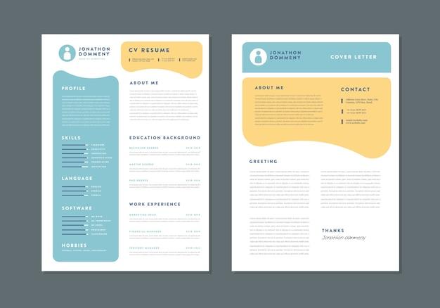 Curriculum vitae cv resume template design  personal details for job application