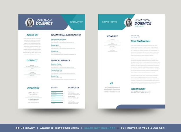 Curriculum vitae cv resume template design or personal details for job application
