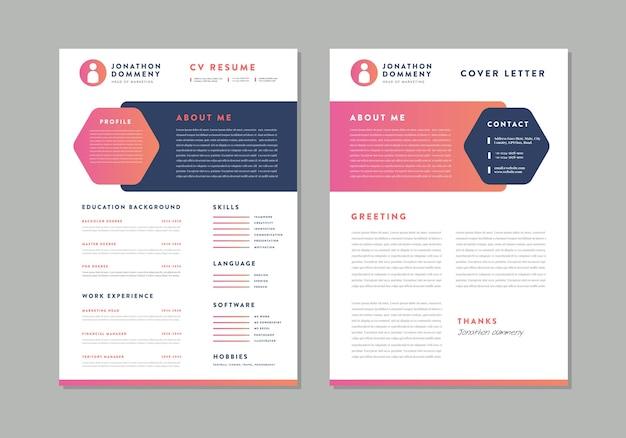 Curriculum vitae cv resume template design
