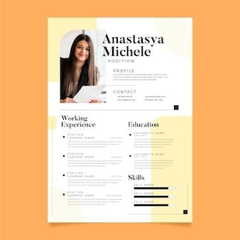 Curriculum vitae editorial template